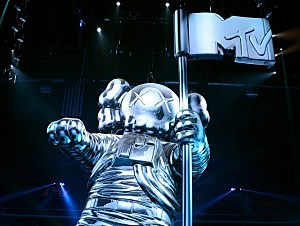 MTV Moonman at the Barclays Center in Brooklyn