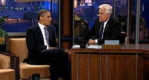 President Obama with Jay Leno on The Tonight Show