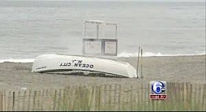 Police explode an unknown device on the beach in Ocean City