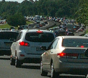 Traffic on the Garden State Parkway near #114