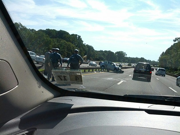 Accident on the Garden State Parkway southbound between #114 and #109