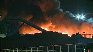 Fire at the Sims Metal Management Company in Jersey City