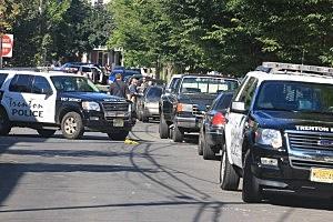 Police on Hobart Avenue in Trenton