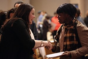 Job Seekers Attend NYC Career Fair