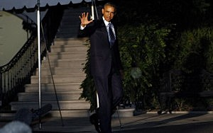 President Barack Obama departs the White House for trip to Sweden