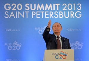 Russia Vladimir Putin helds a press conference on the outcomes of the G20 Leaders' Summit