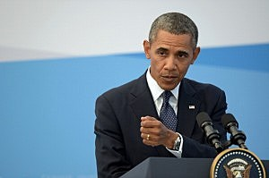 President Barack Obama speaks during a press conference at the end of the G20 Leaders' Summit