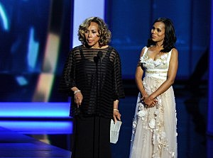 Diahann Carroll (L) and Kerry Washington