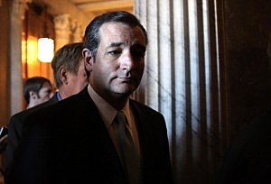 Sen. Ted Cruz (R-TX) arrives for the weekly Senate Republican Policy Committee luncheon