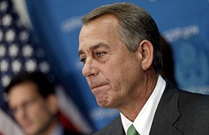 U.S. Speaker of the House John Boehner answers questions at a press conference at the U.S. Capitol