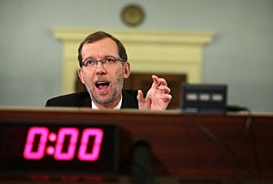 Congressional Budget Office (CBO) Director Douglas Elmendorf testifies during a hearing before the House Budget Committee