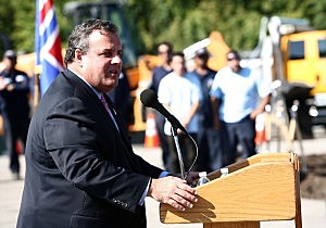 Governor Chris Christie attends the Essex County Department of Public Works  Groundbreaking in Cedar Grove,