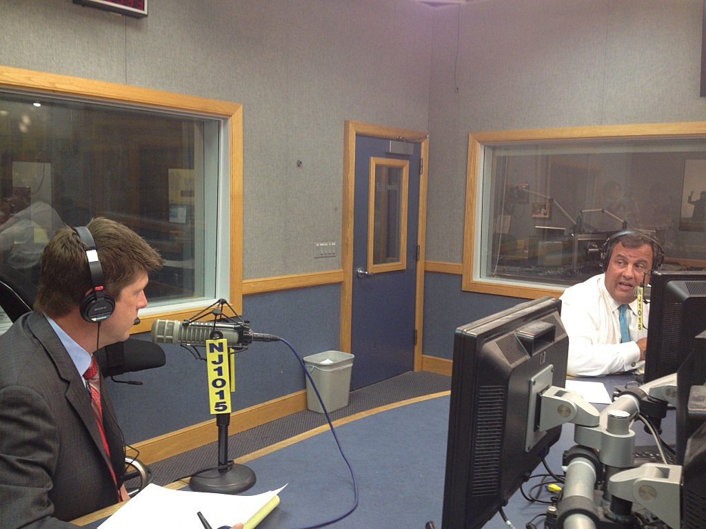 Gov Chris Christie in studio for Ask the Governor on NJ1015