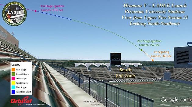 View of LADEE's launch from Princeton University Stadium