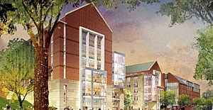 Artist's rendition of the College Avenue Academic Building