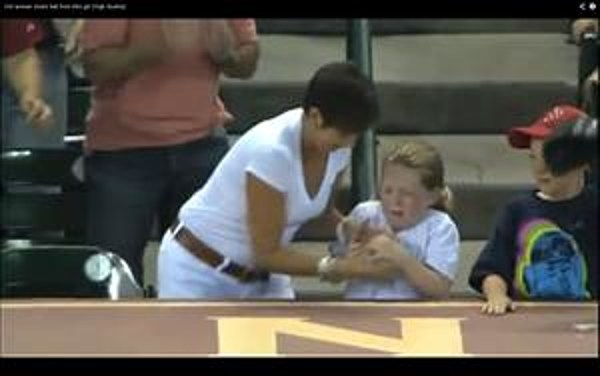 shocking video of evil woman stealing ball from little