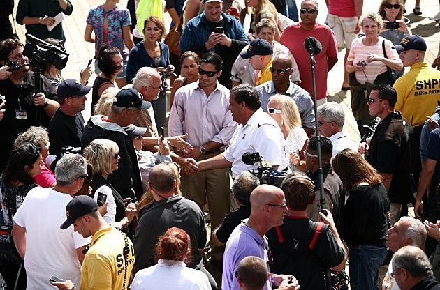 Governor Christie on the boardwalk Saturday