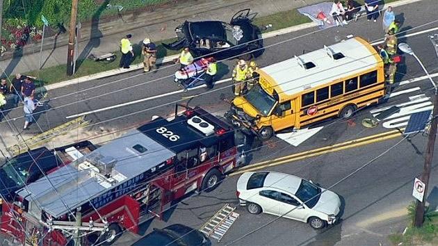 School bus crash in Glendora