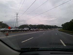 Northbound Garden State Parkway in Ocean County
