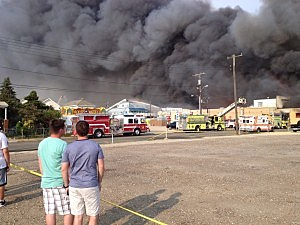 Fire burns in Seaside Heights on Thursday