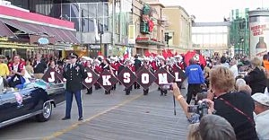 """Jackson Memorial Marching Band performs in the """"Show Us Your Shoes"""" parade in Atlatnic City"""