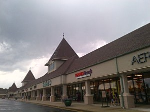 Dark clouds over the Jackson Premium Outlets in Jackson