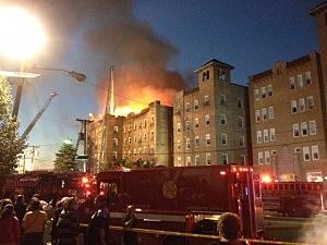 Fire at a North Bergen apartment building