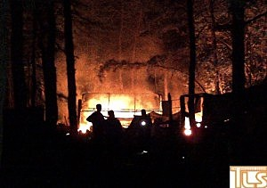 A fire Tuesday night at Lakewood's Tent City