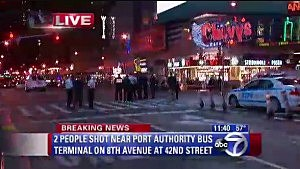 Police in Times Square following shooting
