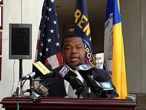 Trenton Tony Mack at a press conference to discuss crime