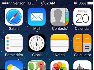 Verizon Wireless iPhone showing service restored on Friday morning