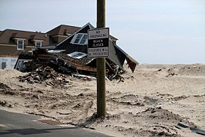 Homes damaged from Sandy