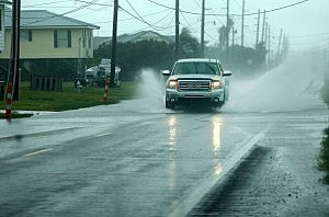 Residents evacuate as heavy rains and wind begin in Grand Isle ahead of Karen on Friday