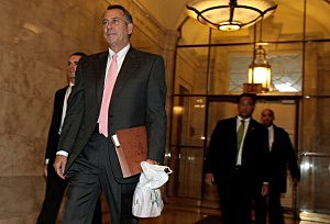 Speaker of the House John Boehner (R-OH) arrives at the U.S. Capitol