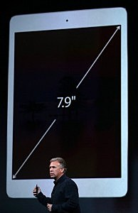 Apple Senior Vice President of Worldwide Marketing at Phil Schiller speaks on the new iPad Mini during an Apple announcement  in San Francisco