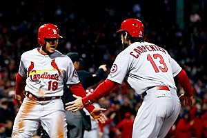 Jon Jay (l.) and Matt Carpenter, St. Louis Cardinals