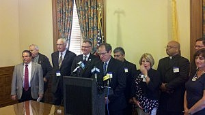 Press conference for New Jersey Coalition to Preserve and Protect Marriage