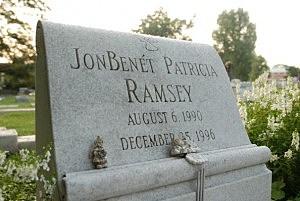The grave of JonBenet Ramsey in Marietta, Georgia.