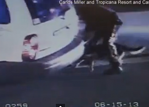 Youtube screenshot of cop beating David Castallani