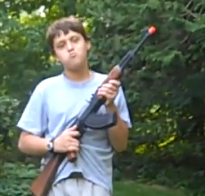 Youtube - kid with Airsoft Rifle