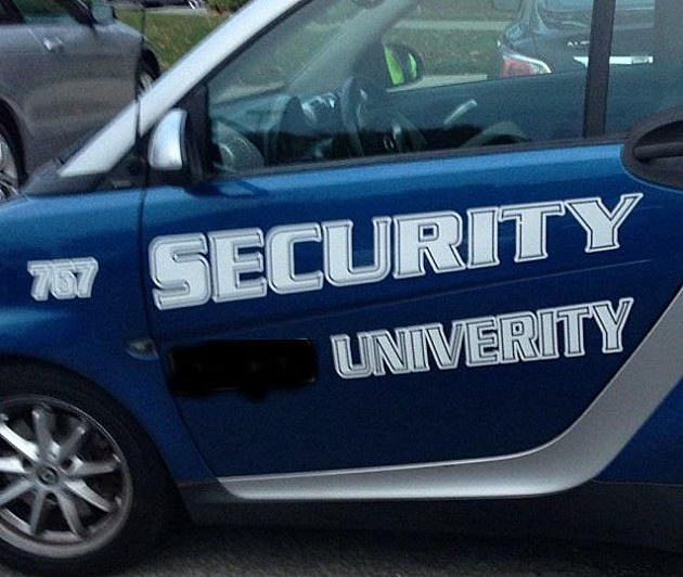 NJ School has Unfortunate Misspelling on Car