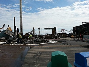Boardwalk in Seaside Heights following a fire