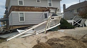 Home damaged by Superstorm Sandy in Point Pleasant