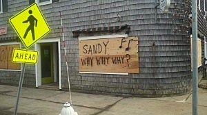 Sign in Point Pleasant following Superstorm Sandy