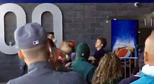 Screen shot of fight at Metlife Stadium after Jets-Patriots game