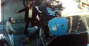 Image showing Sergio Consuegra intervening with bikers beating up driver (NYPD)