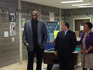 Shaquille O'Neal, Gov. Chris Christie & Camden Mayor Dana Reed