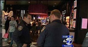 Police inside Victoria's Secret