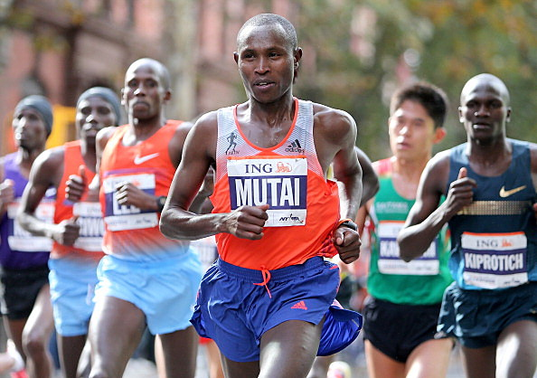 Geoffrey Mutai of Kenya runs the ING New York City Marathon in Brooklyn