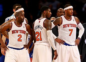 Raymond Felton, Iman Shumpert, and Carmelo Anthony, New York Knicks